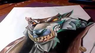 FORTNITE dire Wolf Haut [SPEED DRAWING]von XED