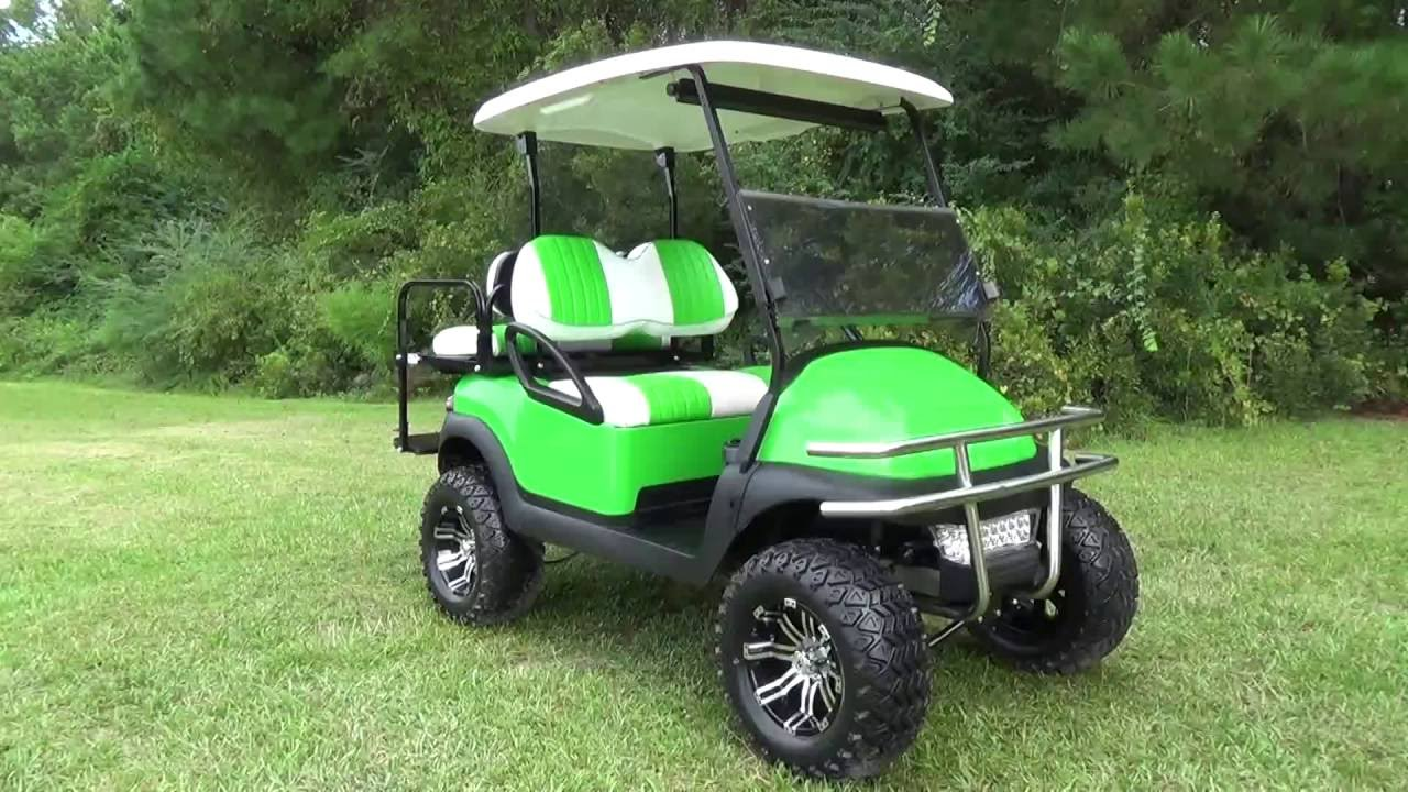 Lime Green Beach Cruiser Golf Cart King Of Carts Youtube