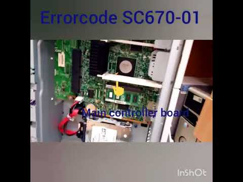 How to remove error code SC 670 01 in ricoh mp c2003 colour photocopier  machine