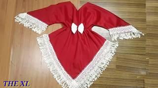 خياطة فستان بطريقه جديده وسهله