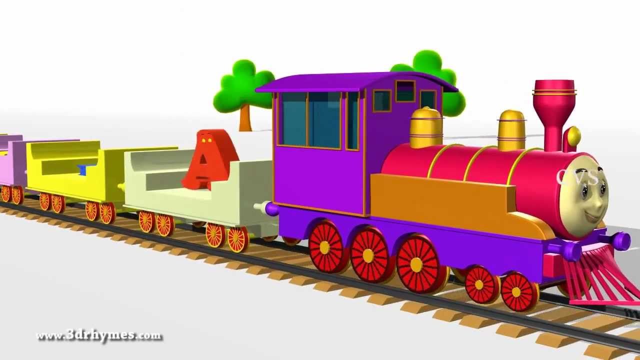 learning Train Abc Song For Children Nursery Rhymes | Abc ...