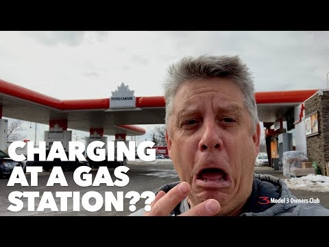 Charging at a gas station??