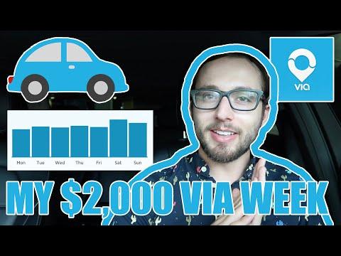 My $2,000 Week Driving for Via ($24.62/hr)