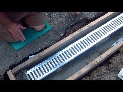 Install A Trench Drain Video 1 Of 7 Youtube