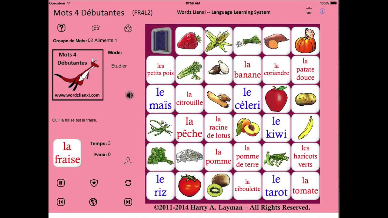 French Words for Beginners - Multi-Cut showing UI in 8 Languages ...