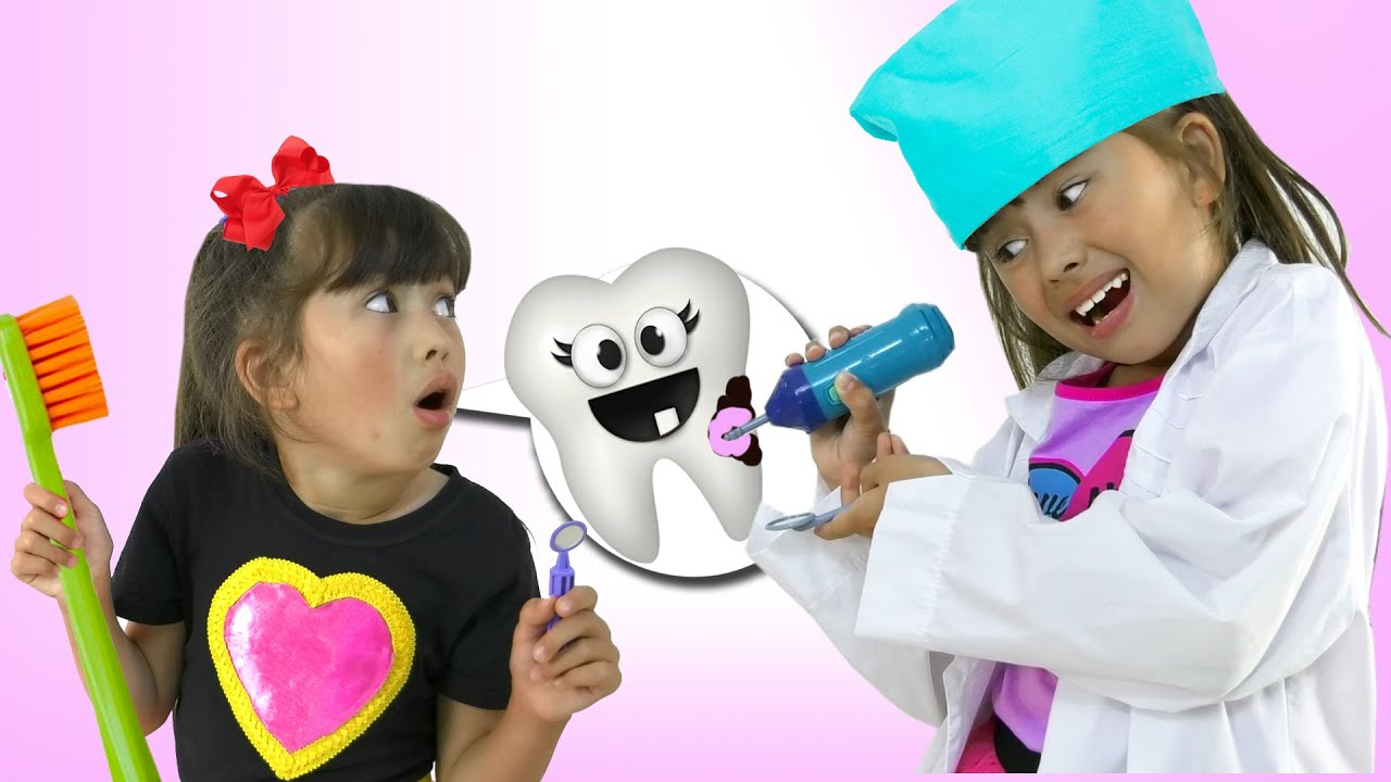 Angela and Abby Hatcher learn how to take care of teeth and what a baby tooth is! Tooth Fairy Story