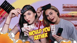 Playing Would You Rather VAL lip matte swatches with VALERIE THOMAS herself