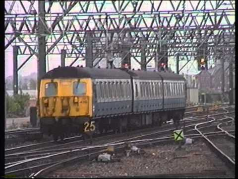 Class 305 EMU departing Manchester Piccadilly 1994.