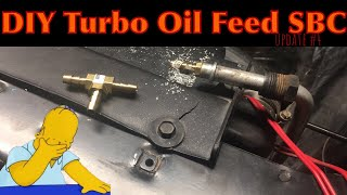 What Have I Done!? | Update #4: Turbo Oil Feed | $500 Turbo Car Challenge