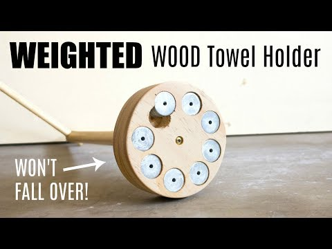 DIY Weighted Wood Towel Holder