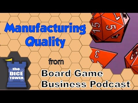 Board Game Business Podcast - Manufacturing Quality - YouTube