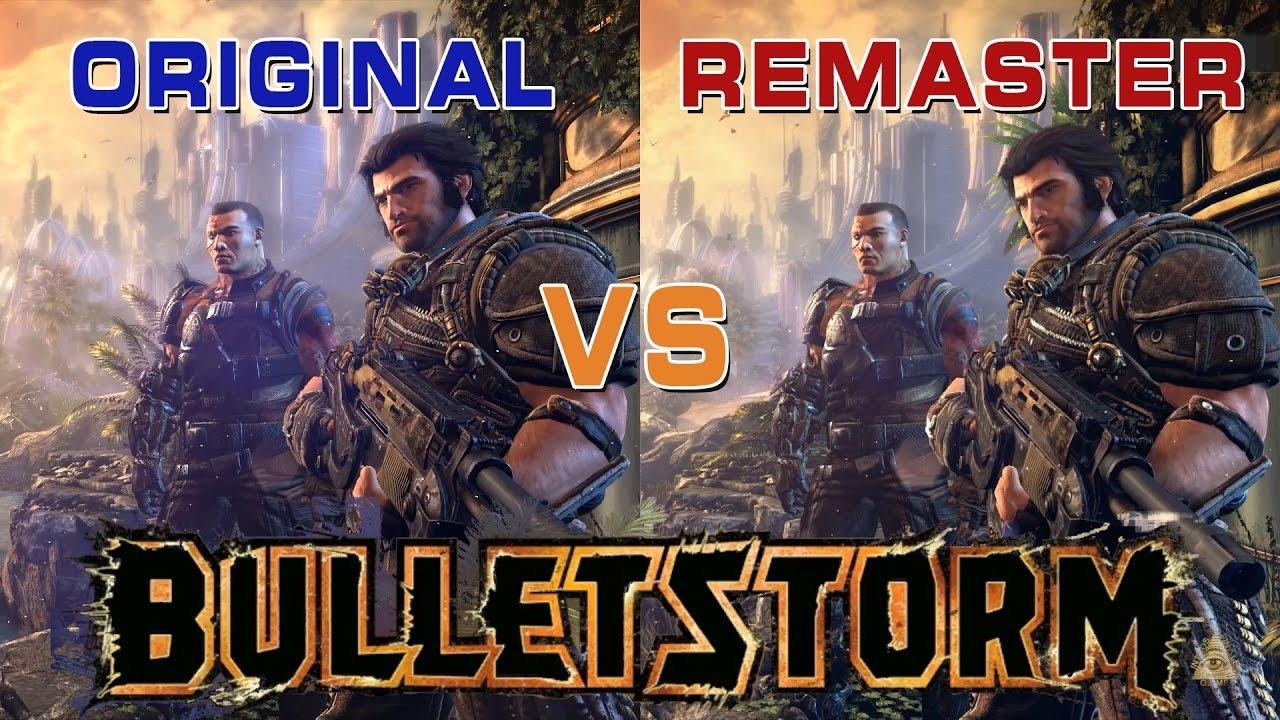 Bulletstorm Original Vs Remastered Full Clip Edition Comparison Youtube