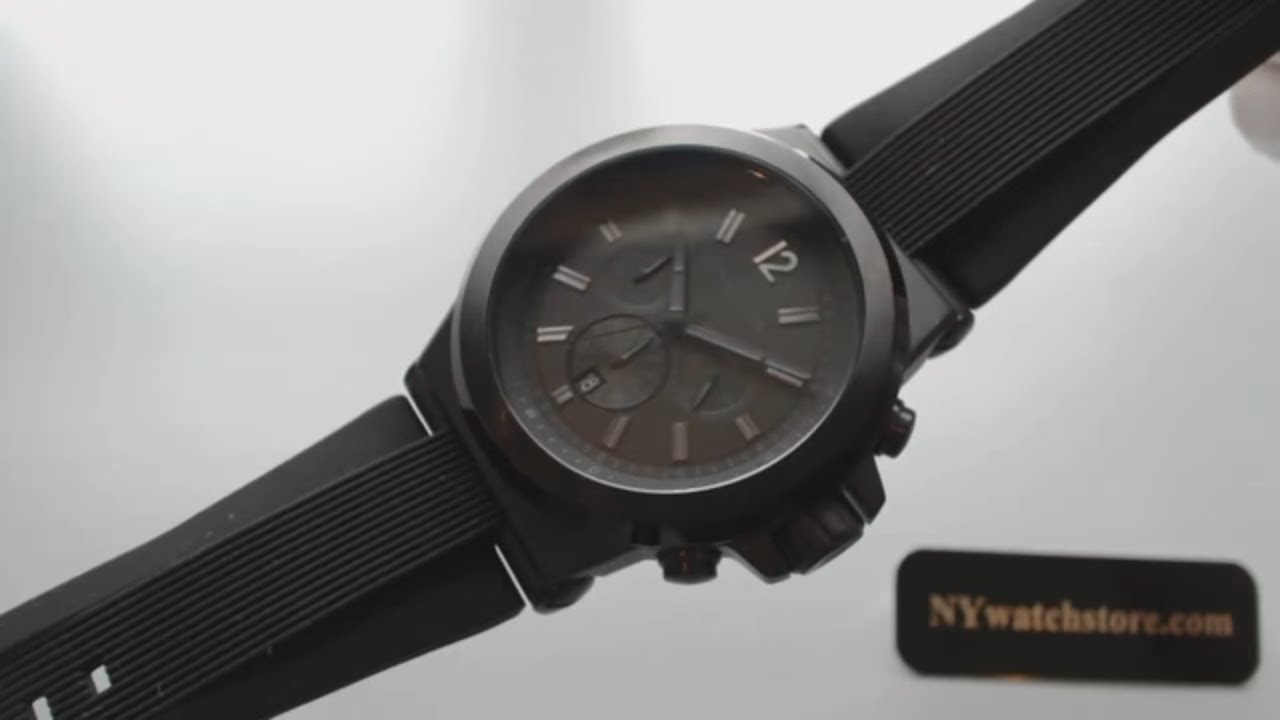 1ecb36765f494 Men s Black Michael Kors Dylan Chronograph Watch MK8152 - YouTube