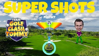 Golf Clash shot, New personal best! 629 yards! 🔥💥