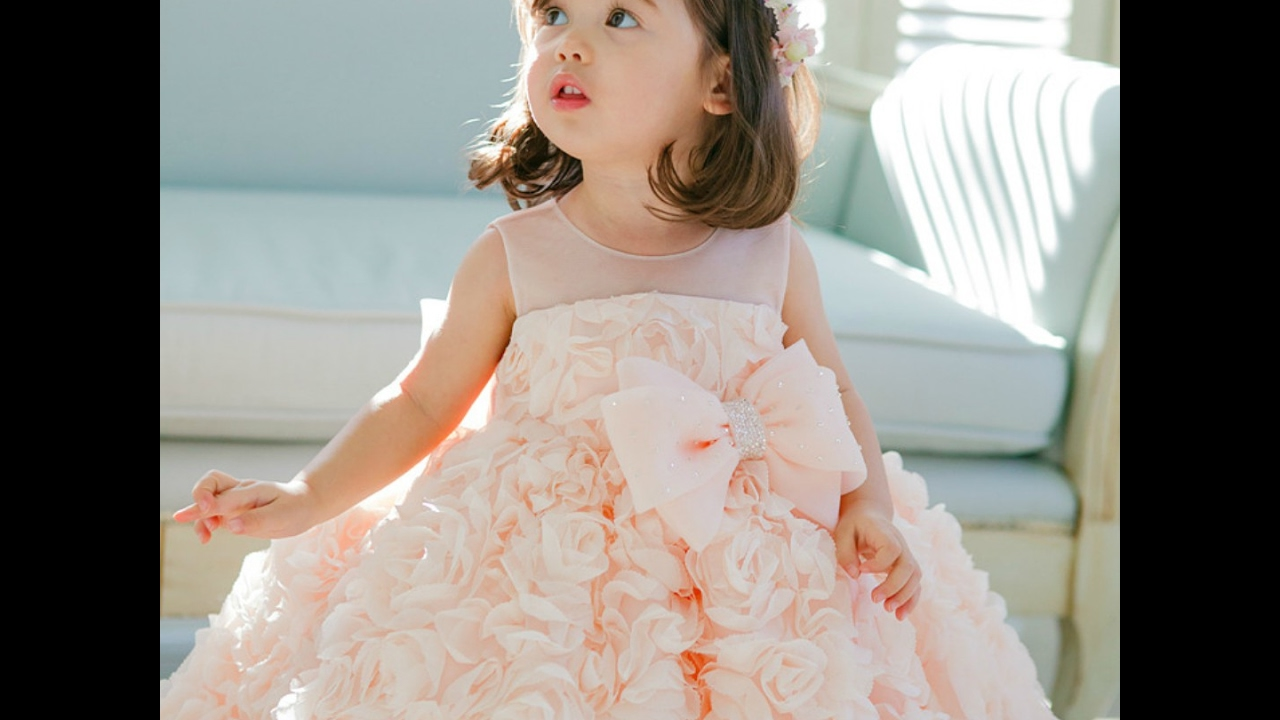 Flower girl dress, Bridesmaid dress, Baby girl birthday outfit ...