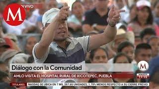Habitante interrumpe a AMLO durante mitin en Puebla