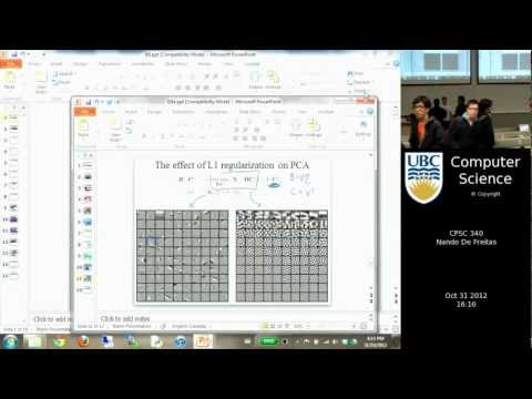 undergraduate machine learning  22: Sparse models and variable selection