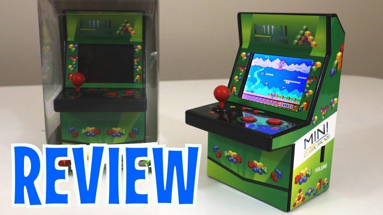 Mini Retro Classic Arcade Machine - UNBOXING & FULL REVIEW ...