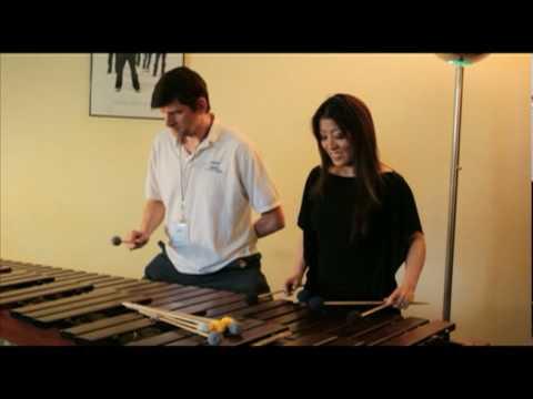 Off Ramp Exclusive: Naoko Takada teaches John Rabe to play the marimba