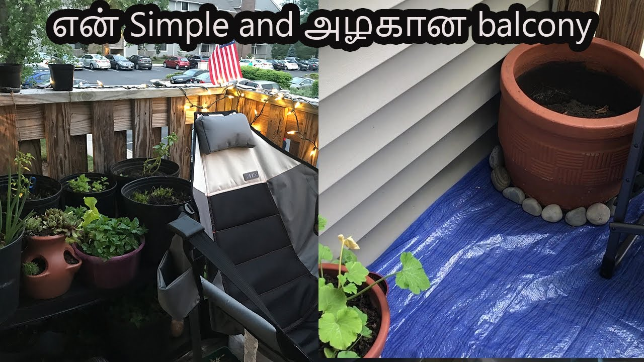 Simple and beautiful Patio and Plants | Balcony makeover | Family Traveler VLOGS (2020)| USA Tamil