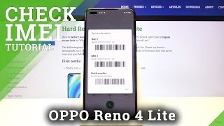 How to Check IMEI & SN in OPPO Reno 4 Lite – Find Special Device Numbers