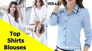 Top 50 Beautiful Shirt and Blouse Designs For Ladies S7