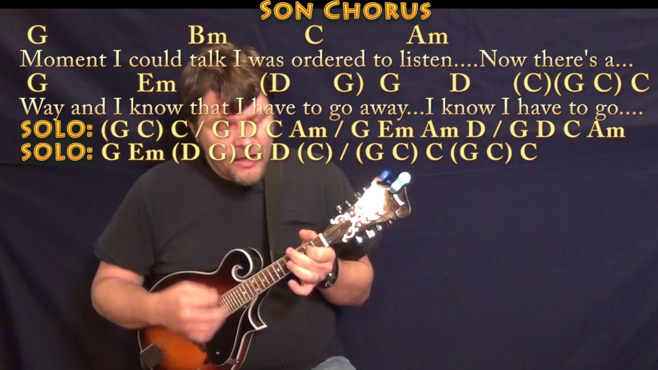 Father And Son Cat Stevens Mandolin Cover Lesson With Chords