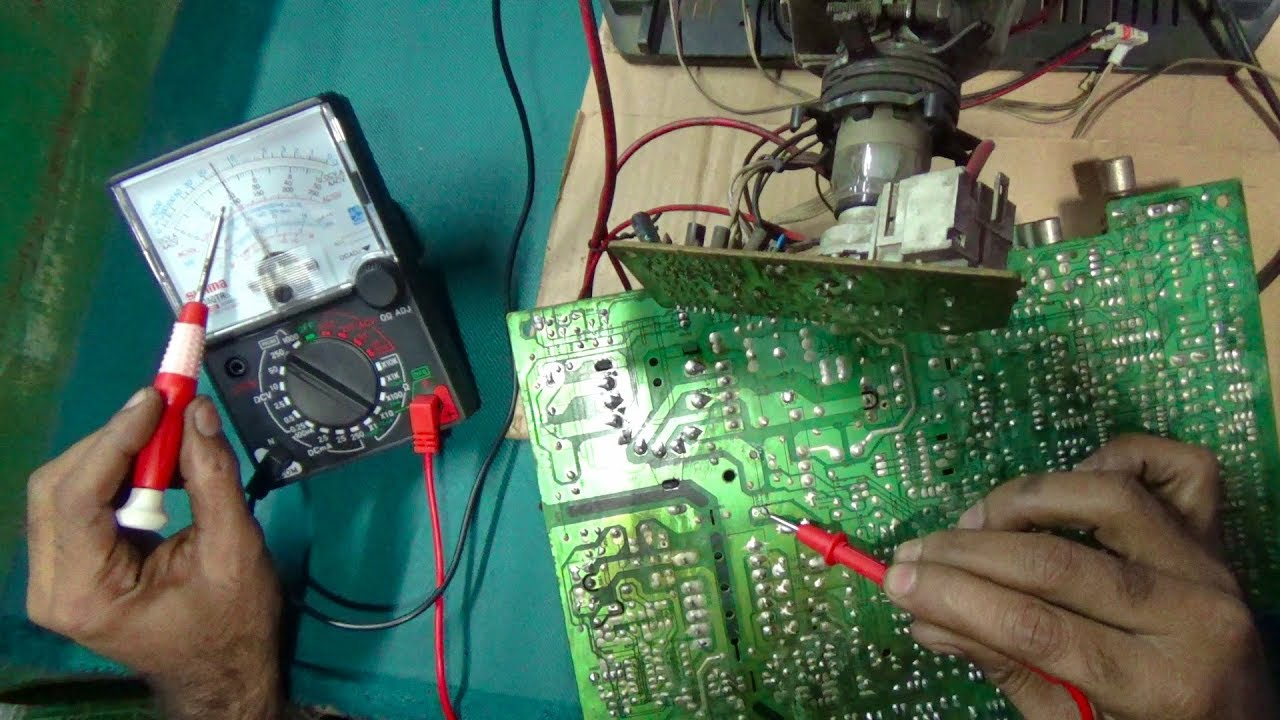 How To Repair Standby Mode Of A CRT Color Television (Part 2) - Bengali  Tutorial