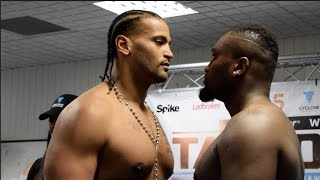 HEAVYWEIGHT CLASH! - NICK WEBB v ANDRE BUNGA - OFFICIAL WEIGH IN & HEAD TO HEAD / TAYLOR v JOUBERT