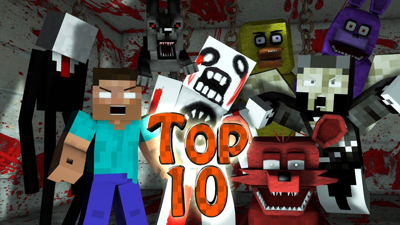 Minecraft Top 10 Modded Top 10 Horror Mobs Monsters
