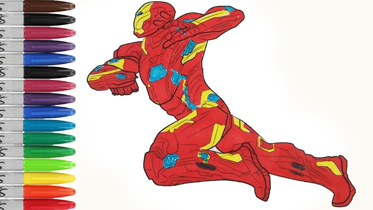 - IRONMAN In Captain AMERICA The Civil War Coloring Pages SAILANY Coloring  Kids - YouTube