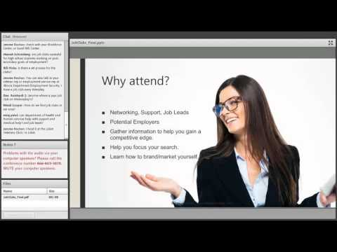 Job Search and Job Clubs - How Do They Help You? Webinar December 16, 2015