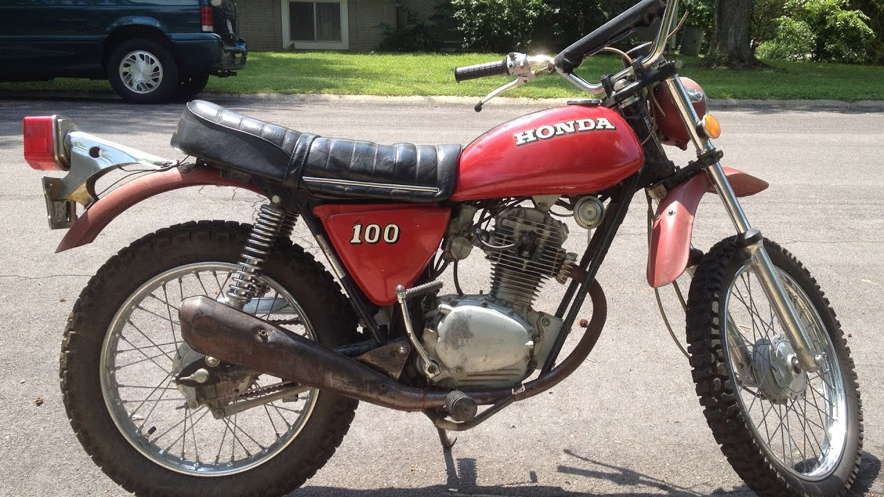 a ride on my 1972 honda sl100 motorcycle - youtube