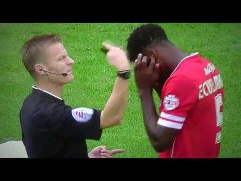 REFEREE'S WHISTLE HURTS FOOTBALL PLAYER'S EARS
