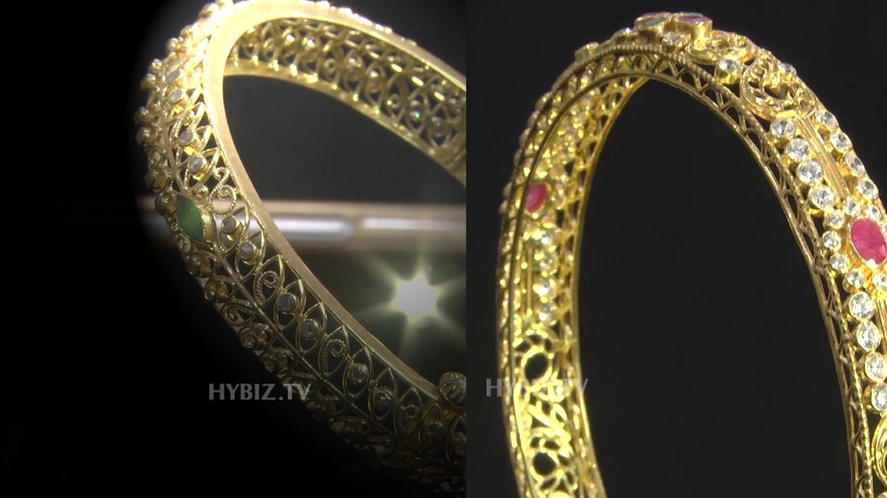 ruby stone gold bangle designs malabar gold and diamonds