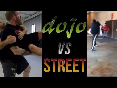 Dojo Vs Street  - Street Fight Japanese Jujitsu Throw