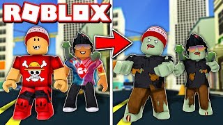 2 PLAYER in ROBLOX's NEW zombie SIMULATOR → Zombie Outbreak (ft. gamermore) 🎮