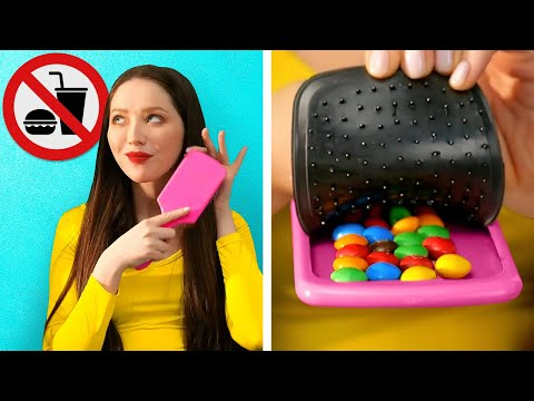 HOW TO SNEAK FOOD ANYWHERE || Funny Situations And Food Tricks Into School, Movies And Airport