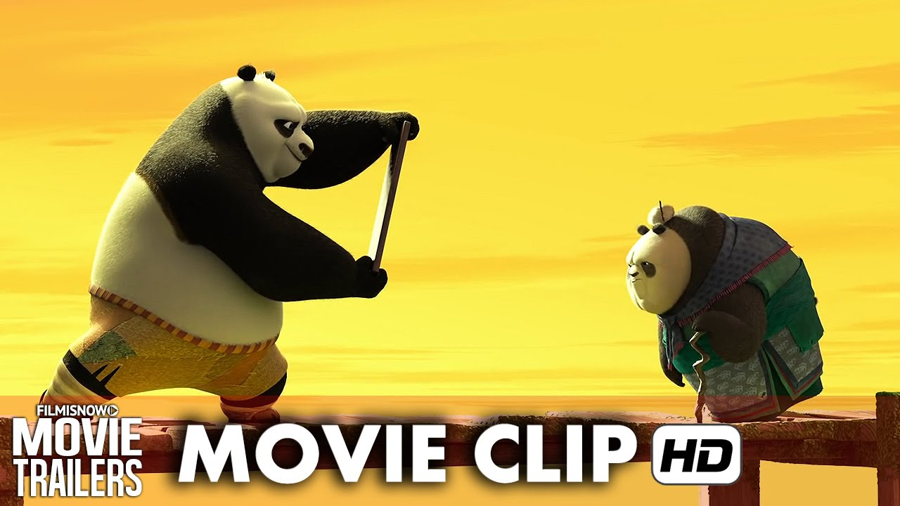 kung fu panda 3 clip 'po teaches kung fu - grandma panda' [hd] - youtube