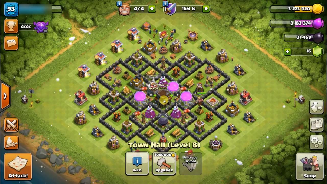 Base Coc Th 8 Max 9