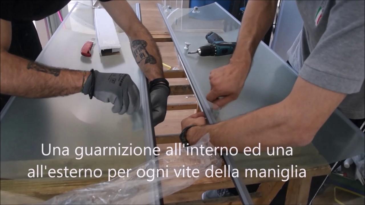 Come Montare Una Cabina Doccia.Montaggio Box Doccia Scorrevole Semicircolare Bivita Youtube