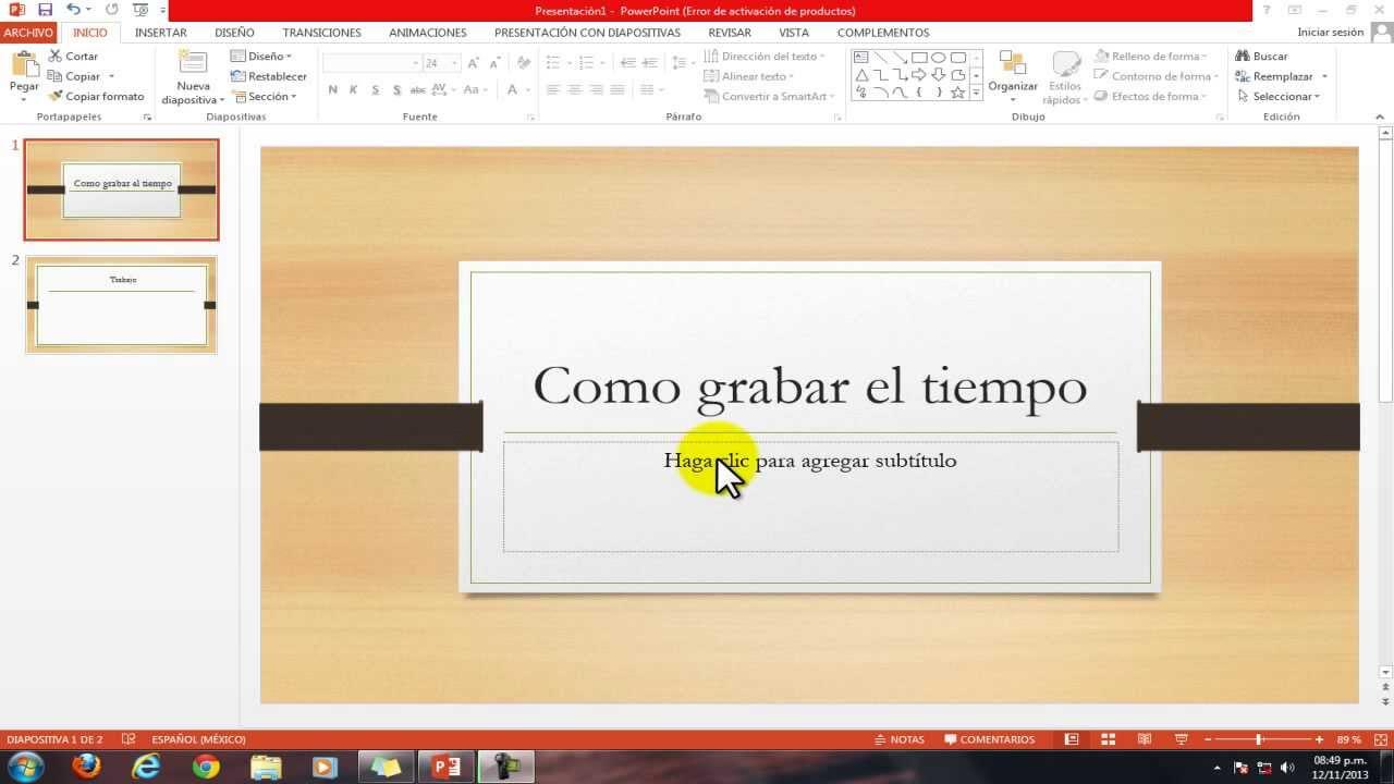 Tutorial como poner tiempo a las diapositivas youtube - Como poner una mosquitera ...