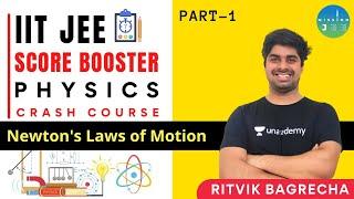 Newton's Laws of Motion Part 1 | JEE Score Booster Crash Course | Mission JEE | Ritvik Bagrecha