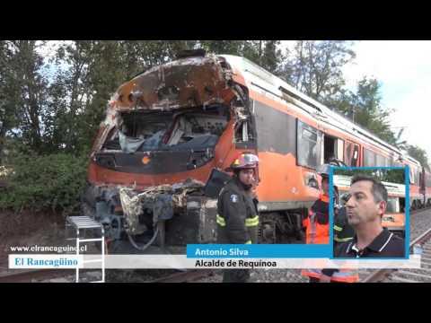 Dos personas fallecidas deja choque entre tren y un camión en Requínoa