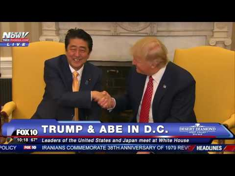 WATCH: Donald Trump and Shinzo Abe (Japan Prime Minister) Meet at White House (FNN)