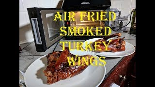 Air Fried Smoked Turkey Wings, Power Air Fryer Oven Elite + iGrill 2