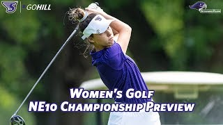 Stonehill Women's Golf Previews NE10 Conference Championship