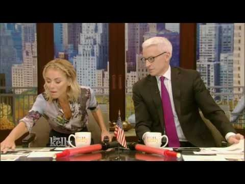 Live With Kelly  10/12/2016 co-host Anderson Cooper, Jon Hamm:Minnie Driver