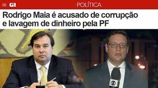 Rodrigo Maia foi denunciado à PGR por corrupção e lavagem de dinheiro.