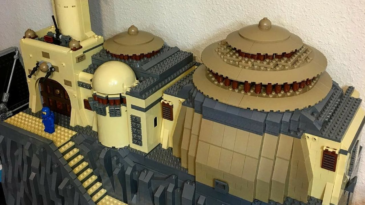 Lego Star Wars Jabbas Palace Moc Youtube